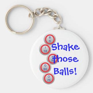 Bingo Shake Basic Round Button Keychain