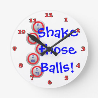 Bingo! Shake those Balls! Numbered Round Clock