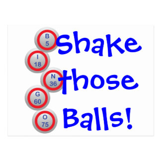 Bingo! Shake those Balls! Postcard