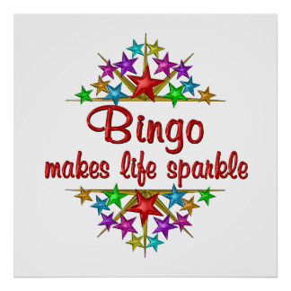 Bingo Sparkles Poster