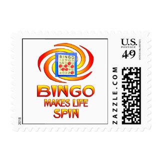Bingo Spins Postage Stamp