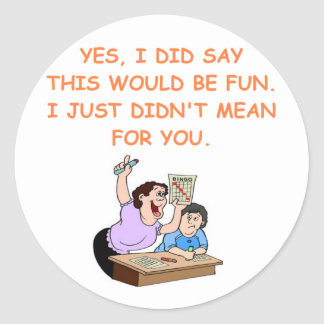 bingo round stickers