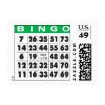 bingo-tarjeta sellos postales