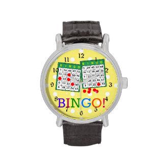 ¡Bingo! Tarjetas verdes y blancas del bingo en