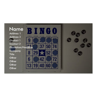 Bingo the gambling game business cards