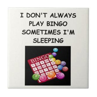 bingo ceramic tile