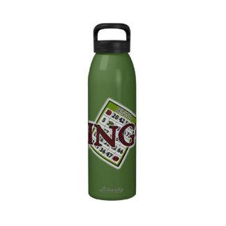 Bingo Word art water bottle