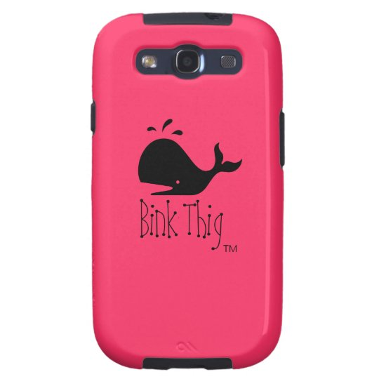 Bink Thig™_Black-on-Red Whale Samsung Galaxy SIII Case