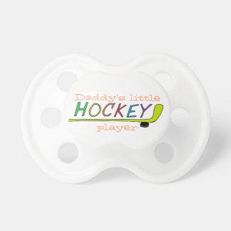 Binkie del jugador de hockey chupetes de bebé