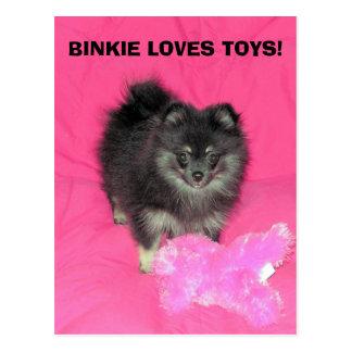 BINKIE LOVES TOYS! POSTCARD