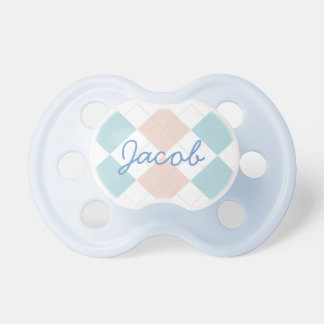 Binky azul personalizado chupete de bebe