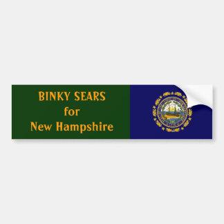 Binky Sears for New Hampshire Car Bumper Sticker
