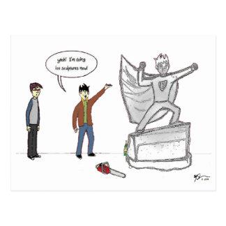 Binky's Doing Ice Sculptures Now Postcard