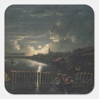 Binnenalster, 1764 square sticker