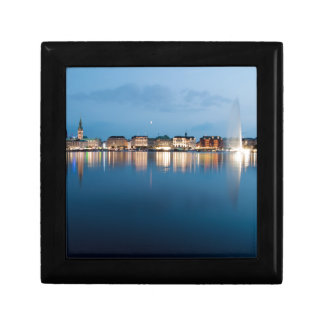 Binnenalster at Hamburg Keepsake Box