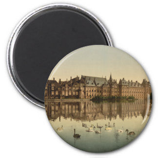 Binnenhof across the Hofvijver, The Hague 2 Inch Round Magnet