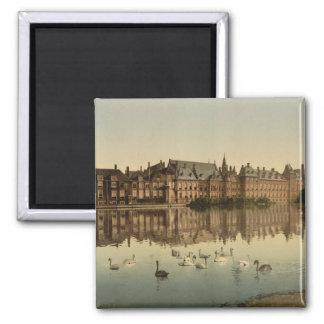 Binnenhof across the Hofvijver, The Hague 2 Inch Square Magnet