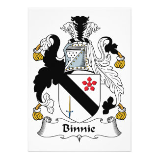 Binnie Family Crest Personalized Announcements