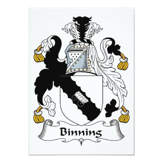 Binning Family Crest Card
