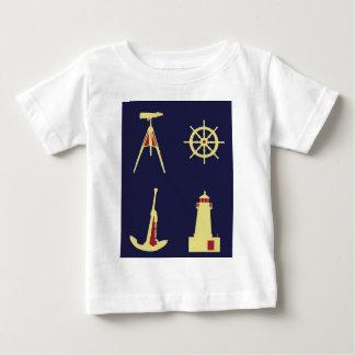 Binoculars, Anchor, Ship's Helm and Lighthouse Baby T-Shirt