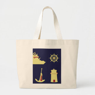 Binoculars, Anchor, Ship's Helm and Lighthouse Canvas Bags
