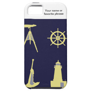 Binoculars, Anchor, Ship's Helm and Lighthouse iPhone 5 Cover