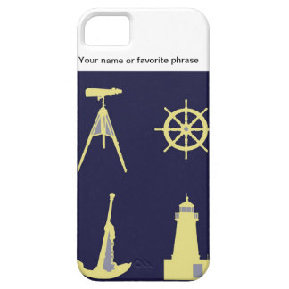 Binoculars, Anchor, Ship's Helm and Lighthouse iPhone 5 Case