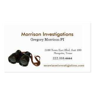 Binoculars Private Investigator Business Card