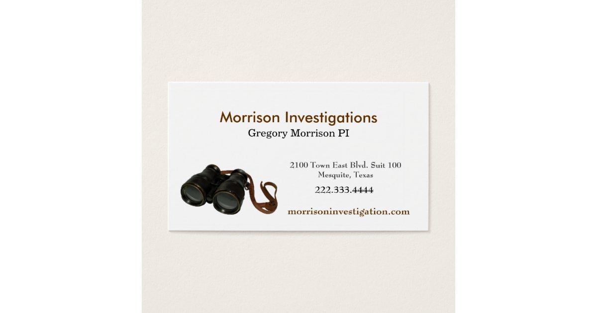 Private Investigator Business Cards & Templates | Zazzle