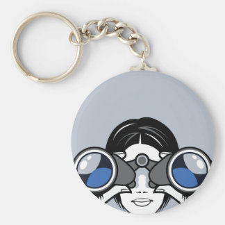 Binoculars Vector Keychain