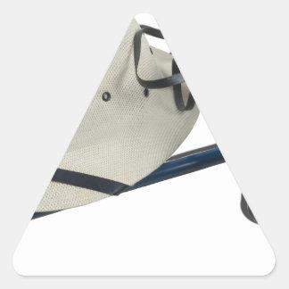 BinocularsPithHelmetButterflyNet021613.png Pegatina Triangular