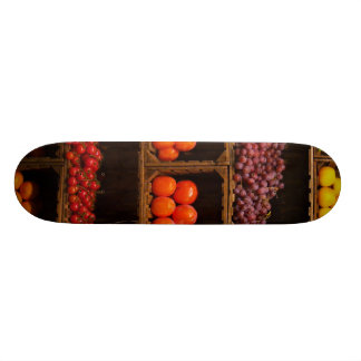 Bins of Fruits and Vegetables Skateboard
