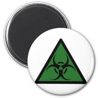 Bio advertencia del símbolo de la muestra del peli imán para frigorífico