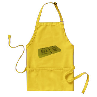 Bio as Bi Bismuth and O Oxygen Adult Apron
