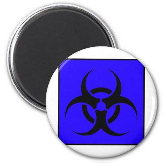 Bio azul de cuidado del símbolo de la muestra del iman