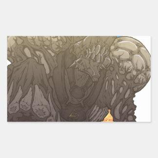 Bio Beast: Iron Latch Rectangular Sticker