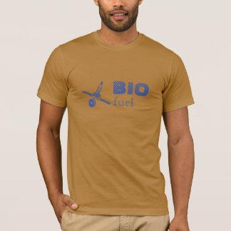 Bio camiseta de algodón del texto del combustible