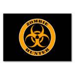 Bio cazador amarillo y negro del zombi del peligro