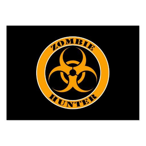 Bio cazador amarillo y negro del zombi del peligro tarjetas de visita