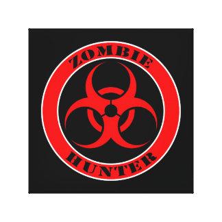 Bio cazador rojo y negro del zombi del peligro lona estirada galerías