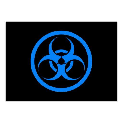Bio círculo azul y negro del peligro tarjeta de visita