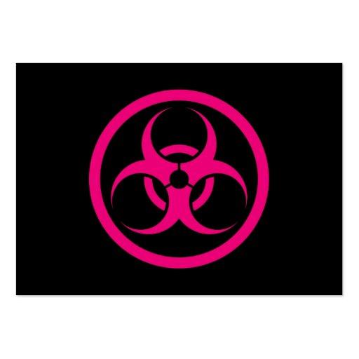Bio círculo del peligro del rosa y del negro tarjeta personal