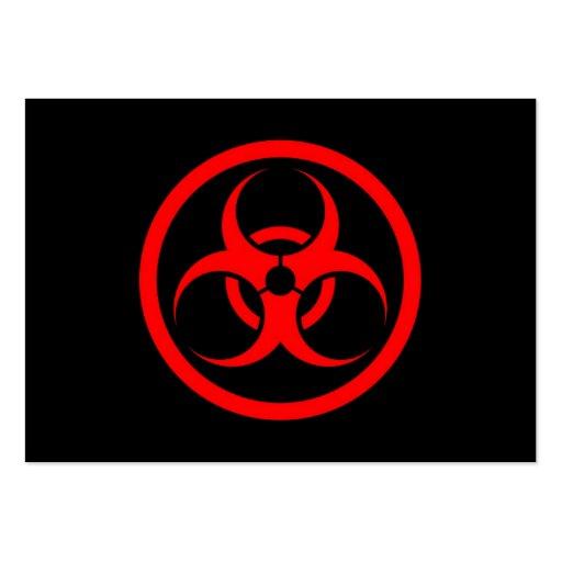 Bio círculo rojo y negro del peligro tarjeta de negocio