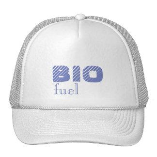 Bio combustible su gorra del camionero del texto