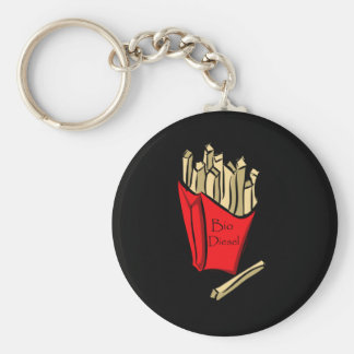 Bio Diesel French Fries Basic Round Button Keychain