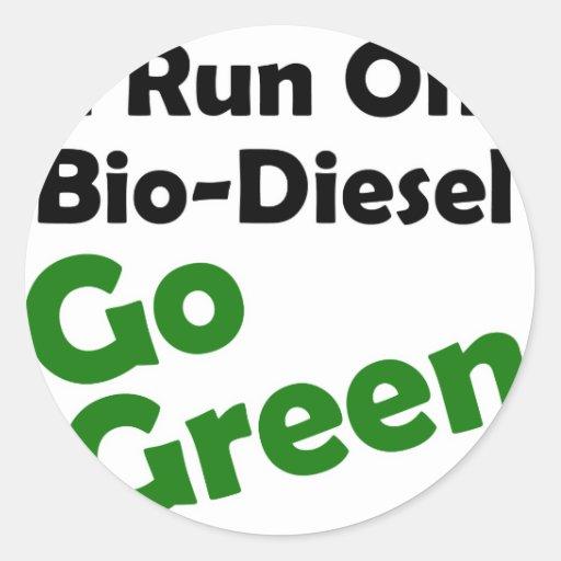 bio diesel pegatina redonda