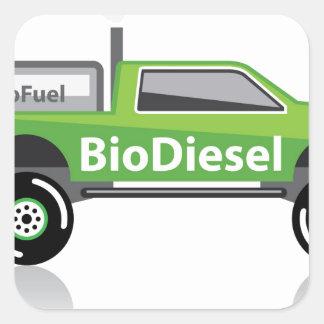 Bio diesel Pickup truck Square Sticker
