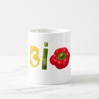 bio food vegetable slice text isolated diet health coffee mug
