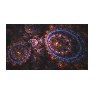Bio-Fractality micro en la lona envuelta 38x21in. Impresion De Lienzo