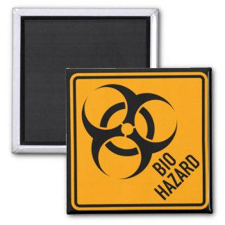 Bio Hazard Biohazard Yellow Diamond Warning Sign 2 Inch Square Magnet